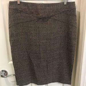 NWT New York & Co brown tweed skirt